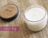 Fresh Fig, 4oz Soy Candle in a Glass Jar