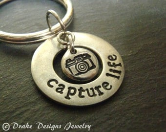 Capture life photographer gift keychain photography gifts