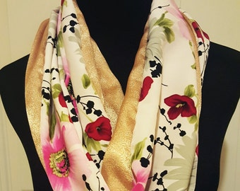 Floral Infinity Scarf Free Shipping