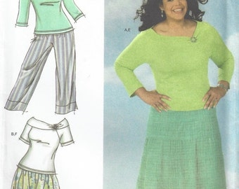 SALE 30% OFF Simplicity 4605 Top, Tiered Maxi Skirt, Capri's  18 - 24