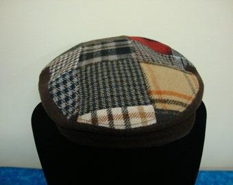 Cavanagh Patchwork Newsboy Style Hat Size 7 5/8