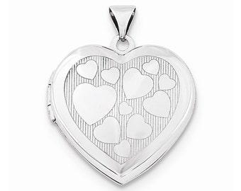 Sterling Silver 21mm Heart Locket