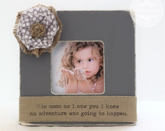 Mom GIFT Personalized Picture Frame Winnie The Pooh Quote 'As Soon as I Saw You I Knew an Adventure Was Going to Happen' Gift