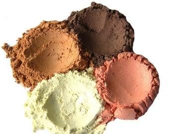 60% OFF - 4pc BEACH Mineral Eyeshadow Mineral Makeup Set - Pure Natural Vegan Minerals