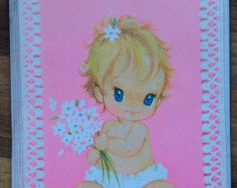 New Vintage Baby Girl Cards, Big Eye