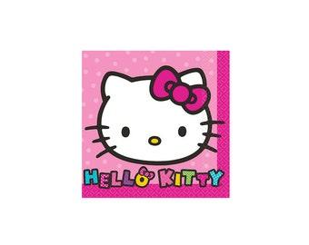 Sanrio Hello Kitty Beverage Paper Napkins, Tableware, Party Supplies
