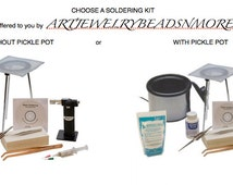 SOLDERING KiT with/without Pickle Pot, incl - DVD, soldering torch, tripod/screen, Sparex, Silver Solder - soldering tools, enameling, tools
