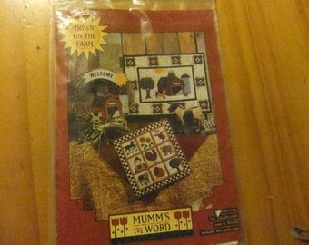 Down On The Farm Quilt Pattern/Vintage Pattern/Mumm's The Word Co.