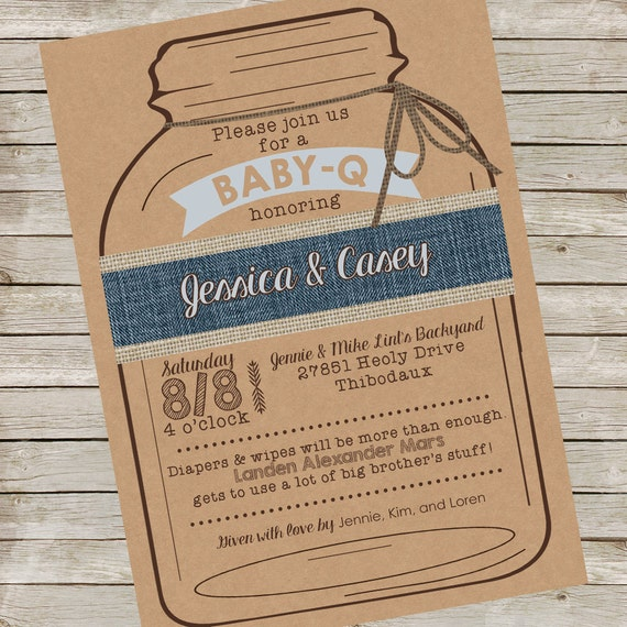 baby q invitation piy file baby q printable digital file baby