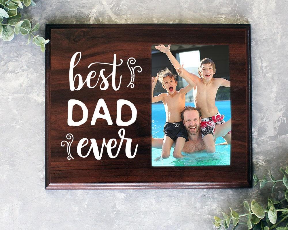 Best Dad Ever Photo Frame Alternative Gift From Kids Present