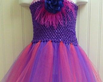 Tutu Dress Purple and Hot Pink/basic