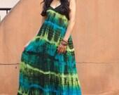 Long Dress..Long Sun Dress ...Beach Wear ...Sleeveless Dress...Tie Dye