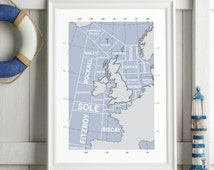 Shipping Forecast Regions Print
