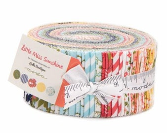 Little Miss Sunshine Jelly Roll by Vanessa Goertzen of Lella Boutique for Moda