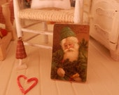 Christmas Picture Sign Plaque, Dollhouse Miniature Handmade, 1:12  Scale Dolls House