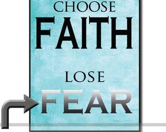 Choose Faith Wall Art on Wood