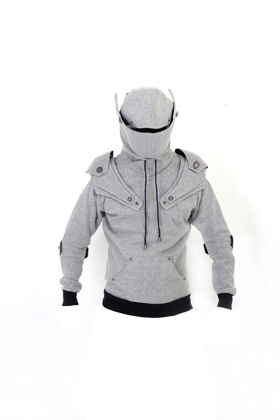 Arthur Medieval Knight Armored Pullover Hoodie(100% Handmade Wool) Made To Order