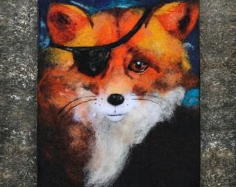 Wool Painting, Needle Felted Art, Felt Painting, Fox Art, Fox Painting, Steampunk Animals, Steampunk Art, Whimsical Art, Fiber Art, Textile