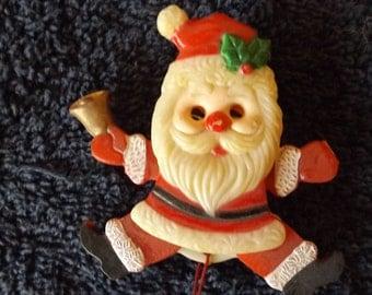 "Vintage Santa Pin 2 3/4"" Plastic Movable Arms Legs  CL4-12"