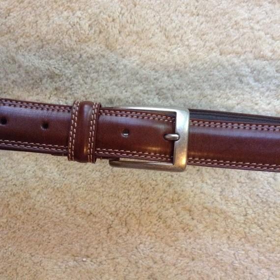 dockers mens brown leather belt vintage brown belt