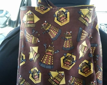 Retro Dalek car tidy pouch / car seat organiser