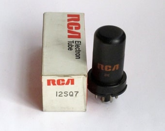 RCA 12SQ7 vacuum tube for All American 5 tube table radios - new old stock - original box
