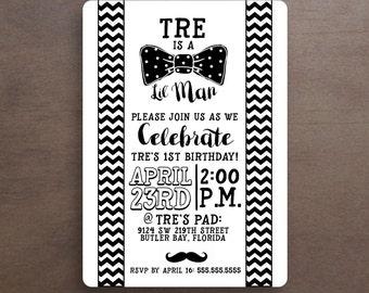 LIL MAN Birthday Invitation (Printable Option)