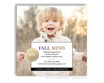 Autumn Mini Session Marketing Template - Photography Digital Marketing Board - MODERN MINIS 2 - 1563