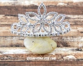 Rhinestone Princess Crown Tiara Comb for Bridal Wedding Pagents, Mini Tiara, Princess Tiara, bachelorette tiara