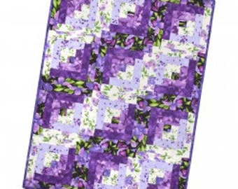 "Maywood Studio ULTRA VIOLET Pre-Cut Block Log Cabin 12 Block Cotton 29""x39"""
