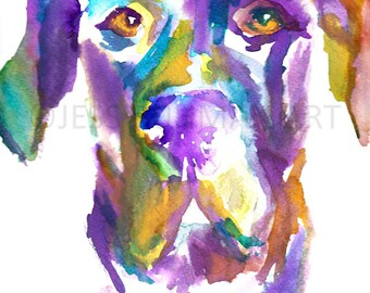 Great Dane Watercolor Painting Print, Dog Painting, Dog Watercolor, Watercolor Print of Dog, Pet Painting, Great Dane Art, Abstract Dog Art