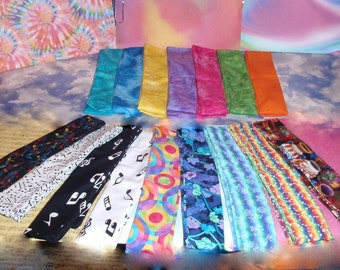 Tie Dye, Music & Rainbows Cooling Neck Ties, Choice Style, Discount Multiple Cool Wraps - Reusable, Washable Summer Heat Relief Gel Scarves