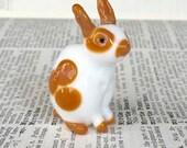 Butterscotch      Lampwork Rabbit GLASS BUNNY ooak