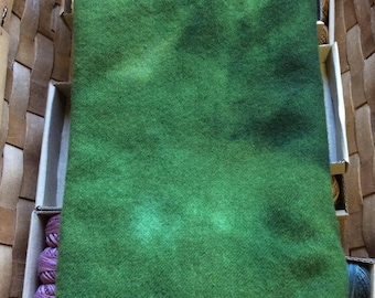 Hand Dyed Rug Hooking Wool 'Leaf Green'