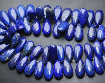 5 Matched Pair,Finest Quality,Natural Lapis Lazuli Smooth Pear Shape Briolettes,15x7mm size.