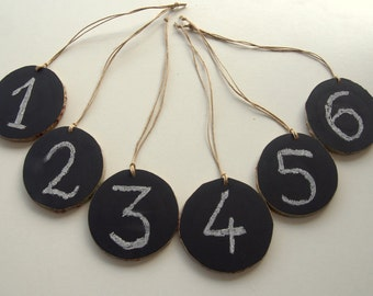 Set of 25,Chalkboard Wood Tags,Wedding Table Numbers,Chalkboard Ornaments,Wedding Decoration,Name Tags,Party Ornaments.