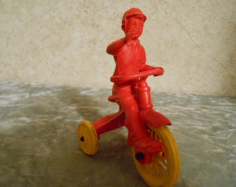1950's Auburn Boy on his Tricycle