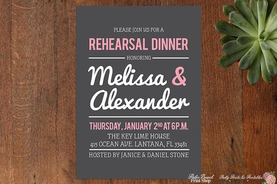 Pre Wedding Dinner Invitation: Personalized Rehearsal Dinner Invitations Printable