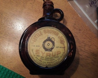 Vintage Syrup Bottle.  Copyright 1921 By Little Brown Jug Products Company