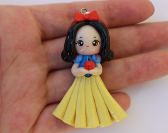 Snow White Polymer Clay Charm