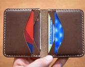 6 Pocket Horizontal Wallet, Horween Chromexcel wallet, wallet for men and women, jeans pocket wallet, card wallet - Natural Chromexcel
