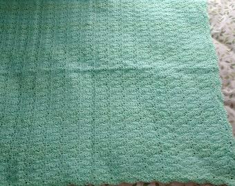 Baby blanket crib blanket stroller blanket crocheted afghan lot 129