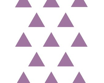 DIY Purple Triangles