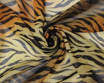 Sunset Animal Pattern Chiffon Fabric Style 8057