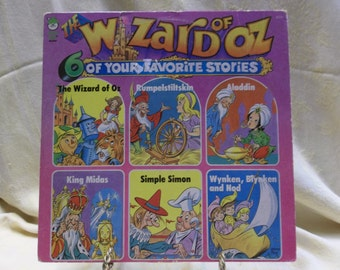 Vintage Peter Pan Record, The Wizard of OZ, Rumpelstiltskins, Aladdin, King Midas, Simple Simon, Wynken Blynken and Nod, S