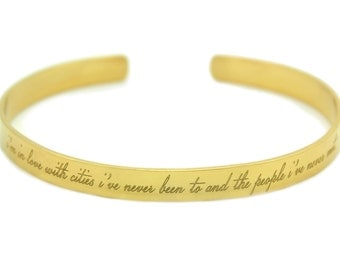 Custom Engraved Bangle - Multiple Metals