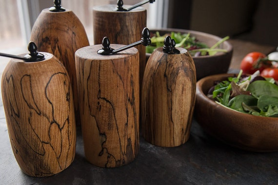Spalted Maple Wood Pepper Mills