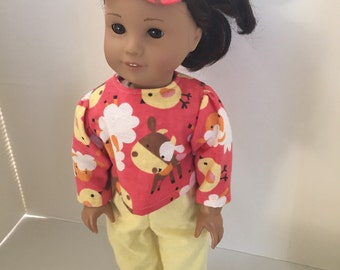 Pajamas, Sleeping Mask, American Girl Doll Farm Animals