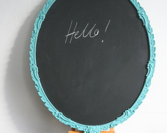 Turquoise framed BlackBoard by Imogen Man