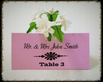 Vase Place Card Settings